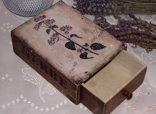 Короб для трав с изображением душицы