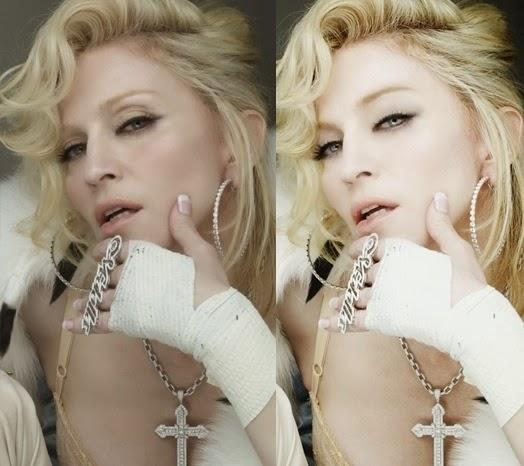 Madonna antes y despues photoshop