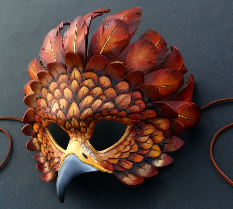 Festival de la Luna Llena {Primer evento} 16-golden_eagle_firebird___leather_mask_by_windfalcon-d4u9y3f-blg