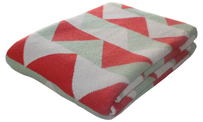modern geometric eco cotton blanket