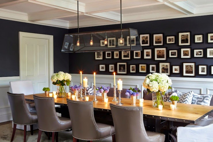 black dining room walls