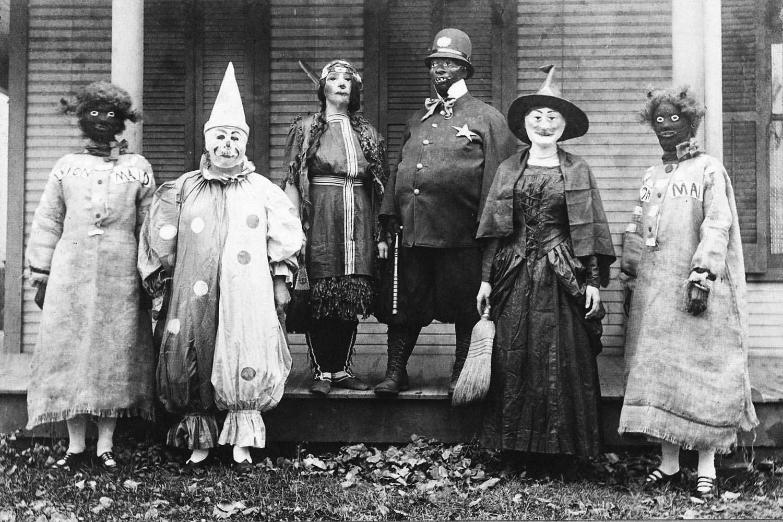 Vintage halloween photos black and white