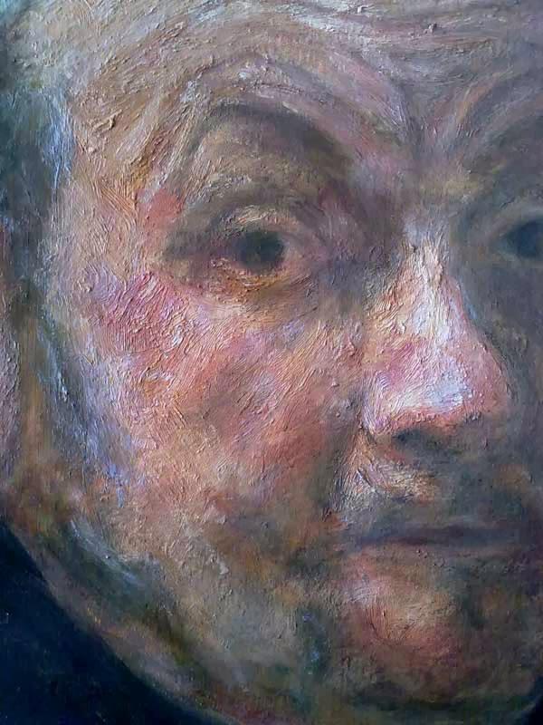 detalle del rostro de rembrandt