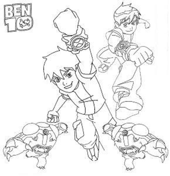 Ben Ten Coloring Pages