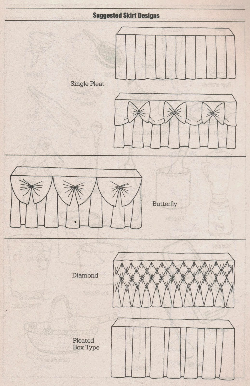 Different Types Of Table Skirting