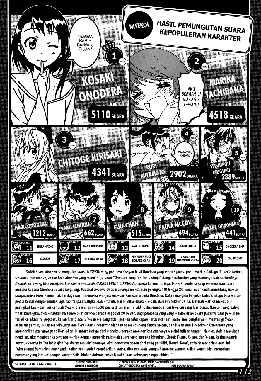 Komik nisekoi 110 - tamasya 111 Indonesia nisekoi 110 - tamasya Terbaru 19|Baca Manga Komik Indonesia|