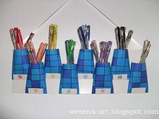 Organizer from toilet paper rolls     wesens-art.blogspot.com