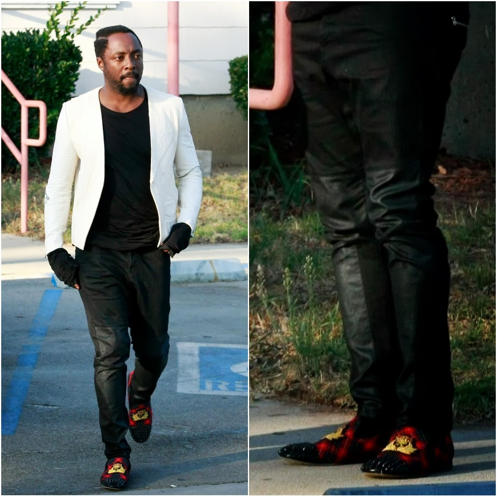 00O00 Menswear Blog: Will.i.am's Christian Louboutin 'Harvanana' loafers