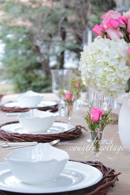Outdoor Living~ Spring Table by Courtney of French Country Cottage