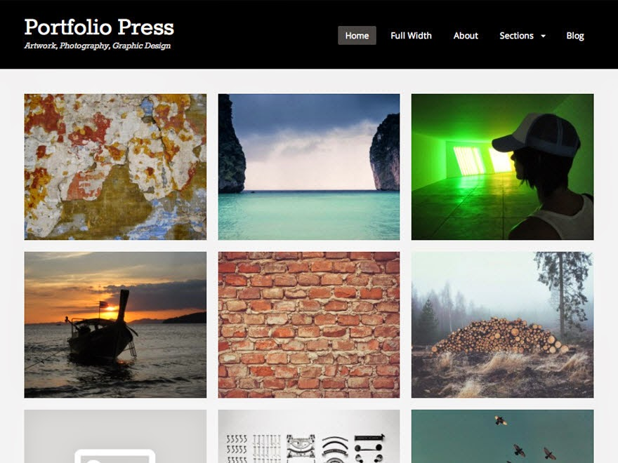 Press Free Portfolio WordPress theme