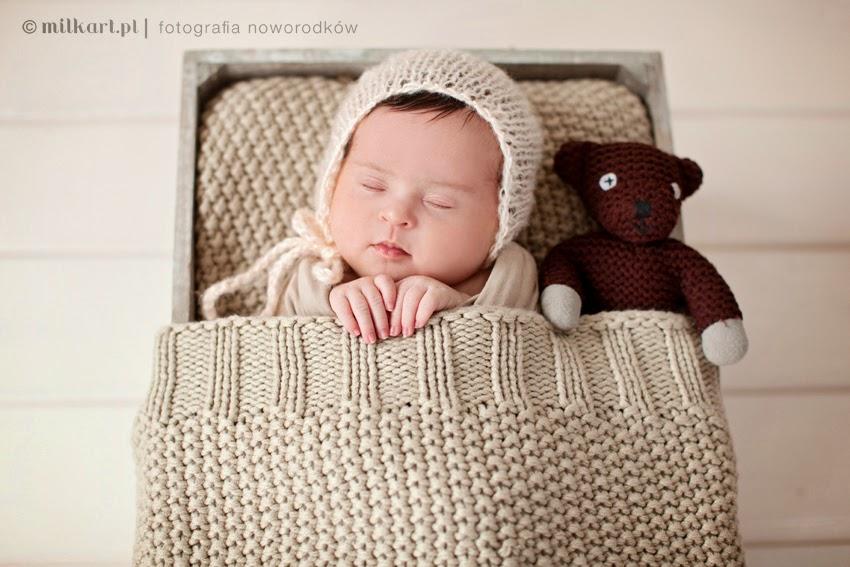 fotografia noworodkowa, sesja fotograficzna dziecka, sesje zdjęciowe niemowląt, fotograf Joanna Jaśkiewicz, MILKart