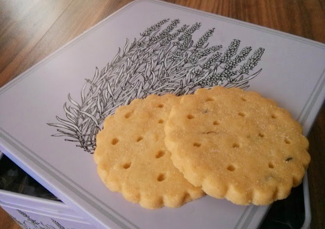 Lavender Shortbread cookies scotland and box