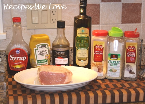 Slow Cooker Pork Tenderloin ingredients from Recipes We Love
