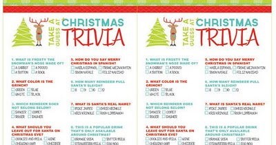 image about Christmas Trivia Game Printable identified as No cost Printable:Xmas Trivia Game titles Totally free Down load Lovable