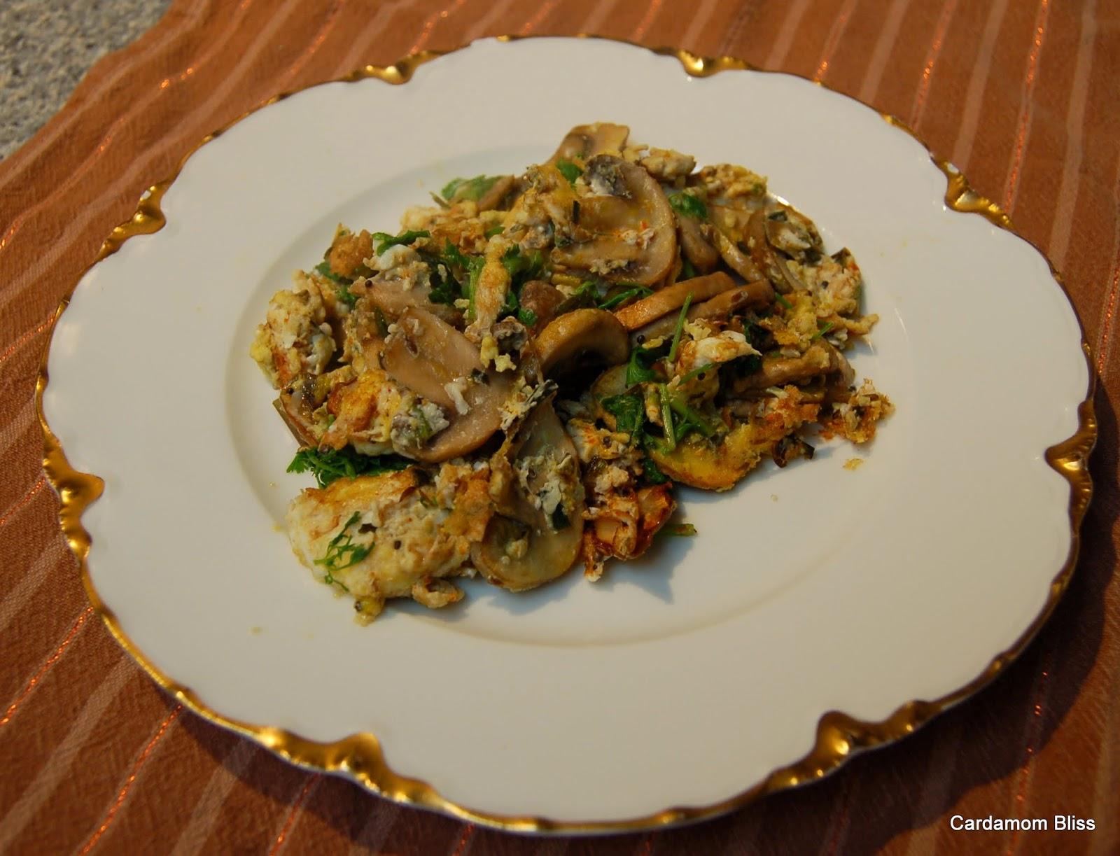 Garlic Scape Eggs Bhurji