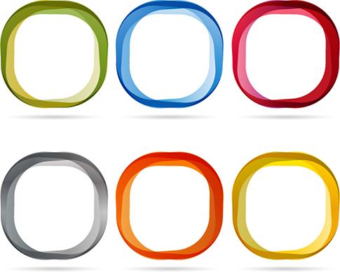marcos vectoriales modernos y coloristas