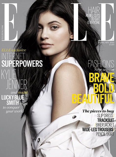 Television Personality, Model, @ Kylie Jenner - ELLE UK February 2016