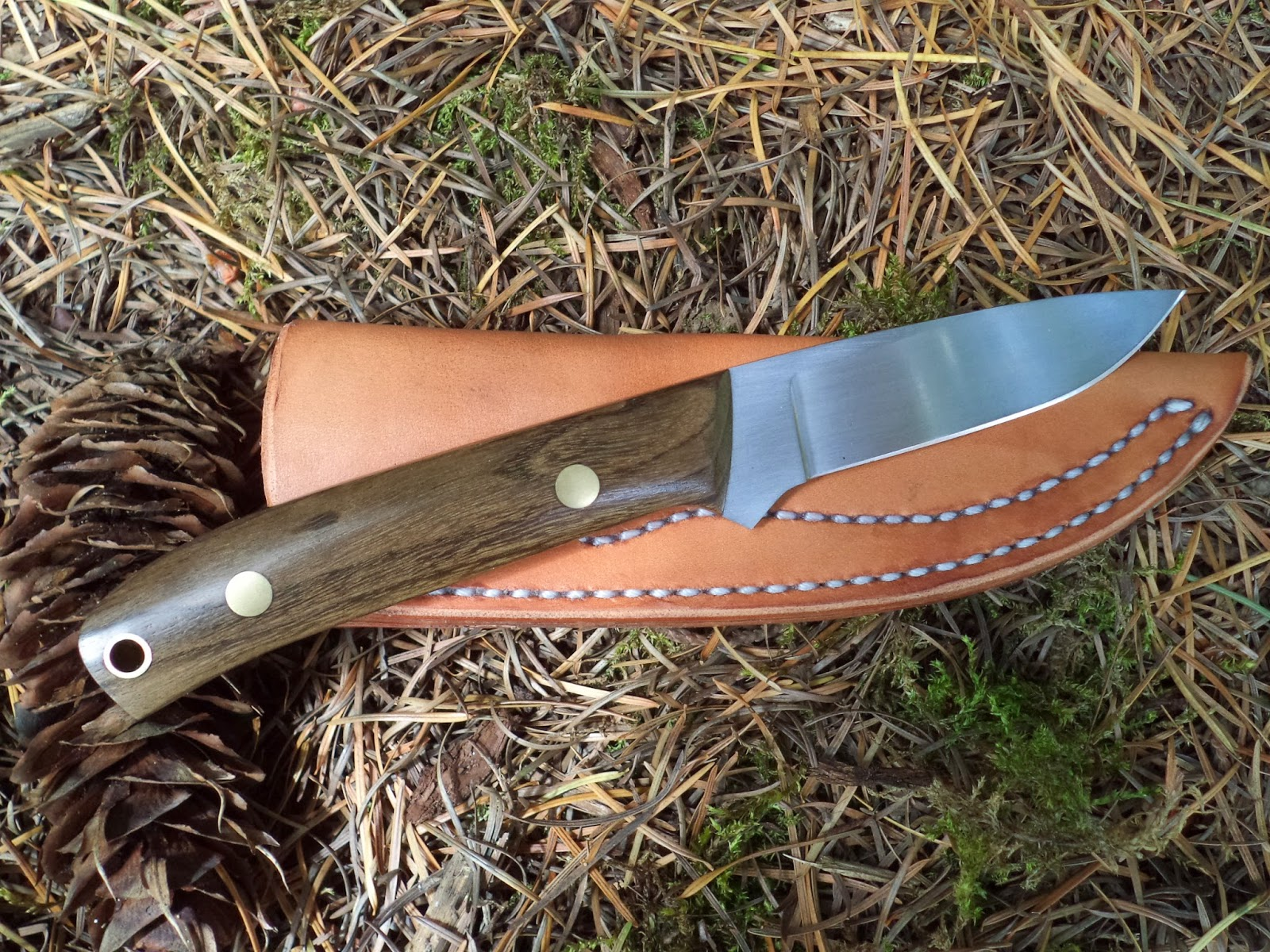 how to finish cocobolo knife handle