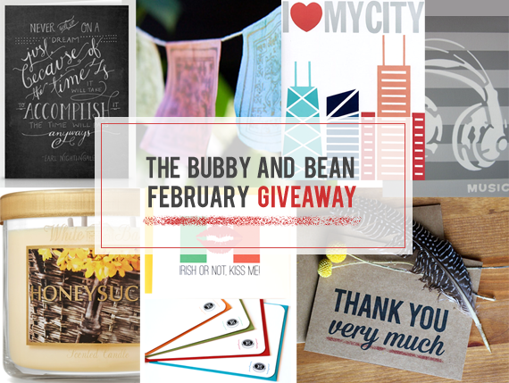 The Bubby and Bean February Giveaway // Win 6 Prizes Worth $440!