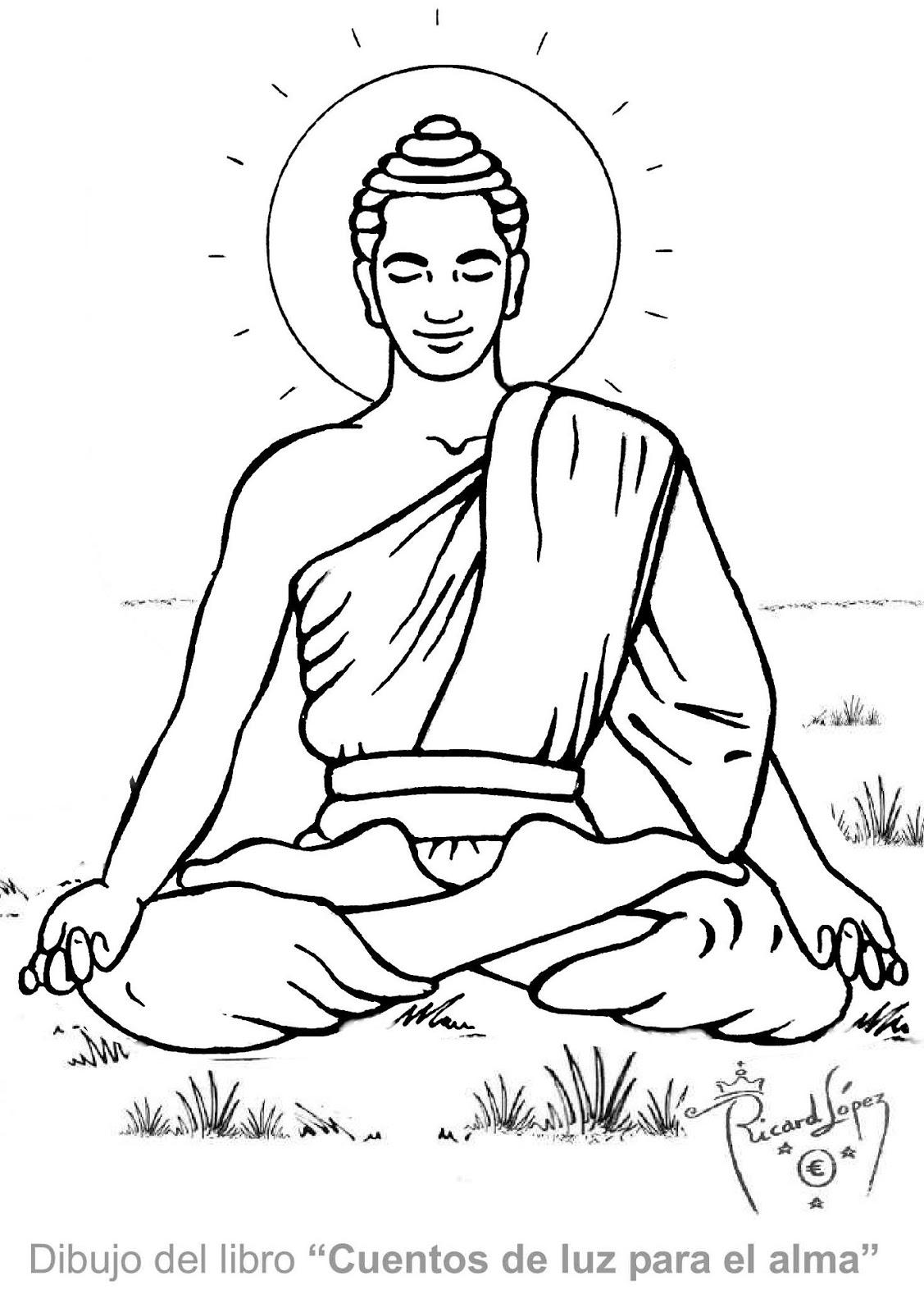 Excelente Páginas Budistas Para Colorear Ilustración - Dibujos Para ...