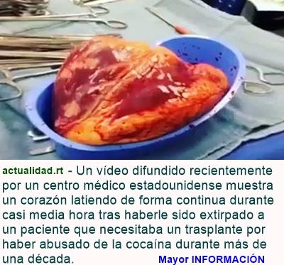 MUNDO: Impactante video: El corazón de un cocainómano late 25 minutos... ¡fuera del cuerpo!