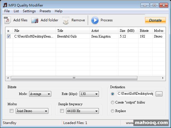 MP3 Quality Modifier Portable
