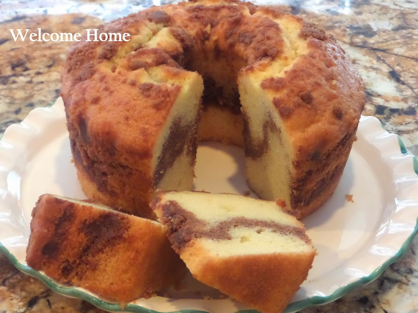 Welcome Home Blog: ♥ Sour Cream Streusel Coffee Cake