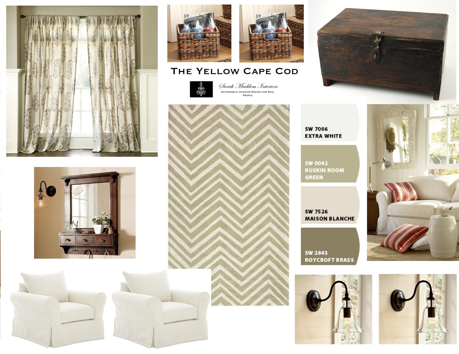 Used A Combination Of Time Worn Furnishings A Fresh Color Palette