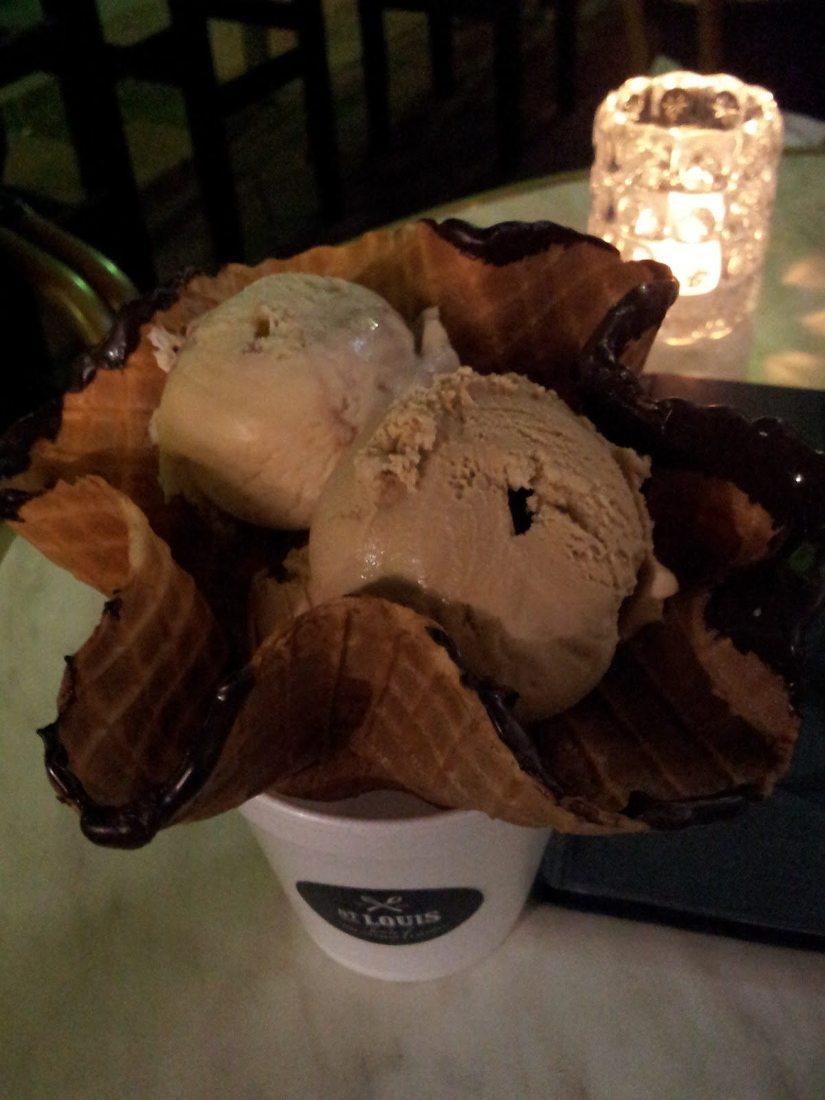 In flavours - honey and fig, cafe St Louis House of Fine Ice Cream & Dessert, Adelaide
