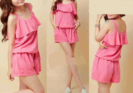 baju wanita spandek pink