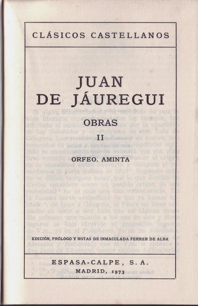 Lecturas 2014: Juan de Jáuregui