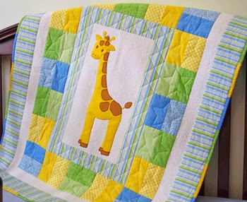 Giraffe Baby Quilt Pattern - Free! PDF Digital Download
