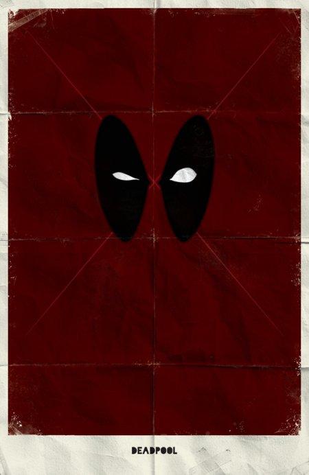 marko manev ilustração poster minimalista super heróis marvel Deadpool