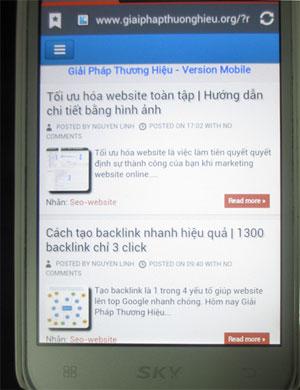 Website trên mobile