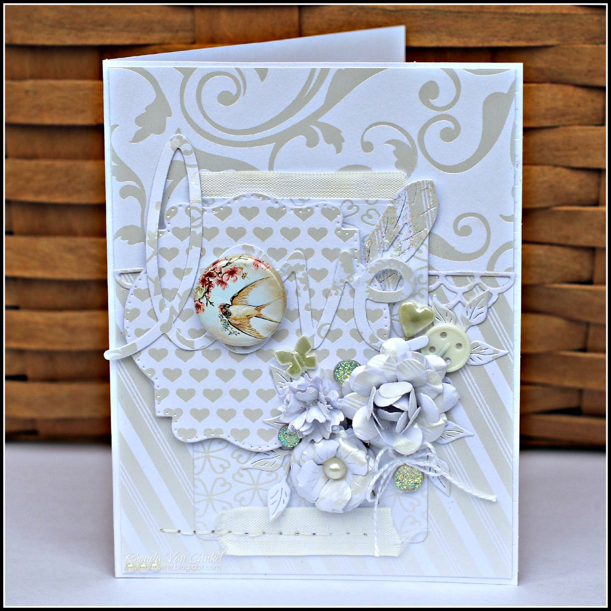Love Card featuring DCWV designed by Rhonda Van Ginkel