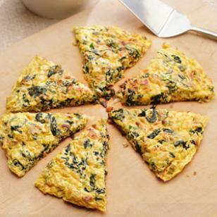Healthy Food Recipe-Pancetta-Greens Frittata