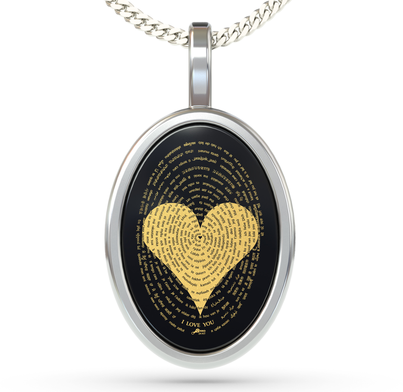 I love you 120 pendant