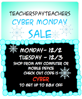 photo of TeachersPayTeachers Monday and Tuesday Cyber Sale, Dec. 2, Dec. 3 2013, Ruth S.
