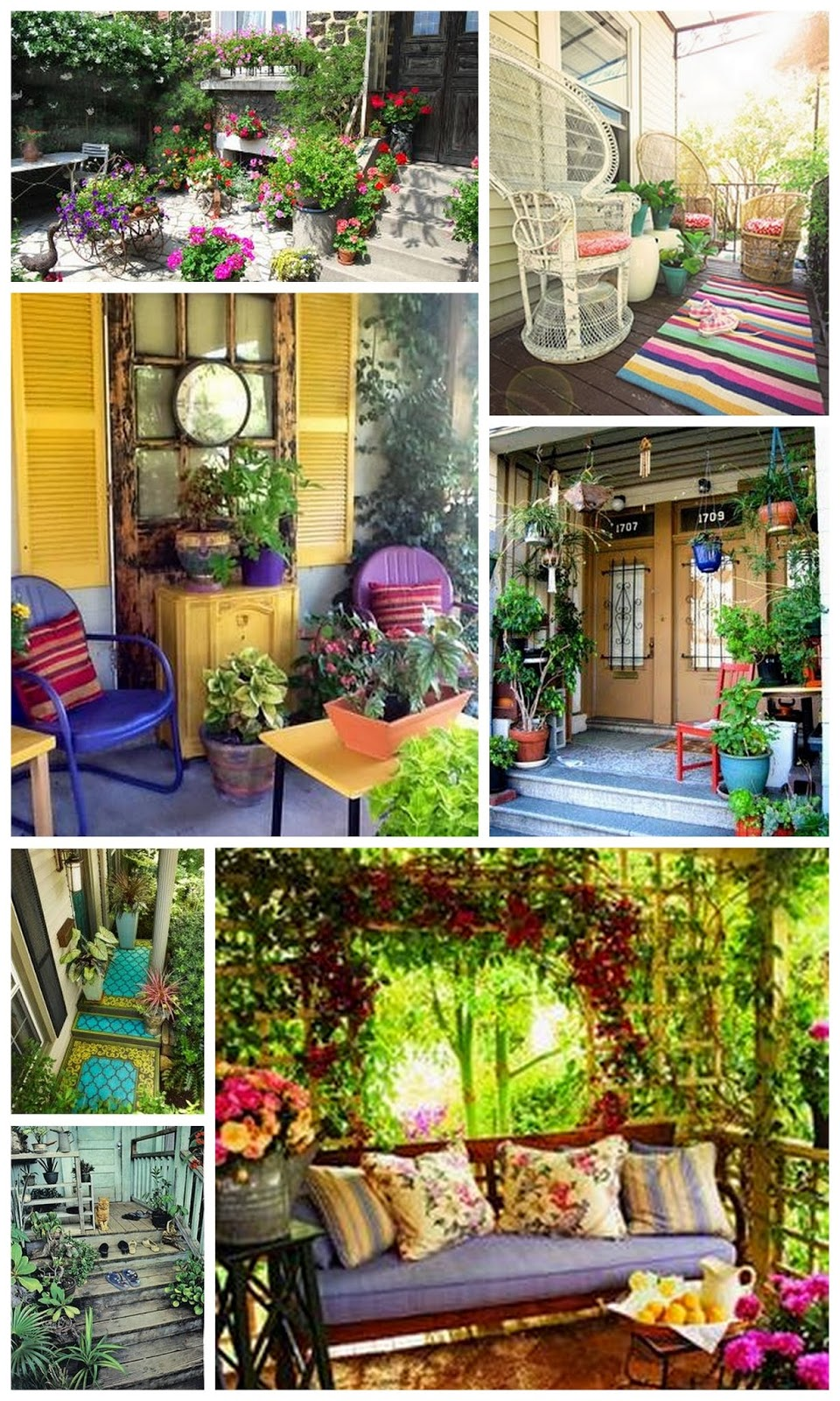 Boho porch ideas