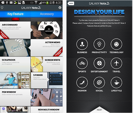 http://android-developers-officials.blogspot.com/2014/04/how-to-experience-galaxy-note-3.html