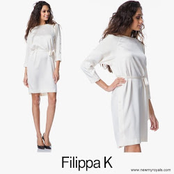 Crown Princess Victoria Style FİLİPPA K. Dress and BY MALENE BİRGER Clutch Bag