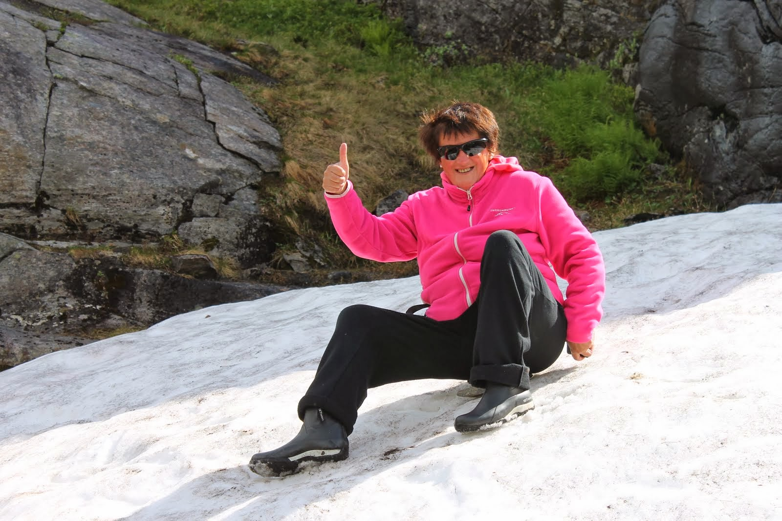 Snö vid Trollstigen 2012