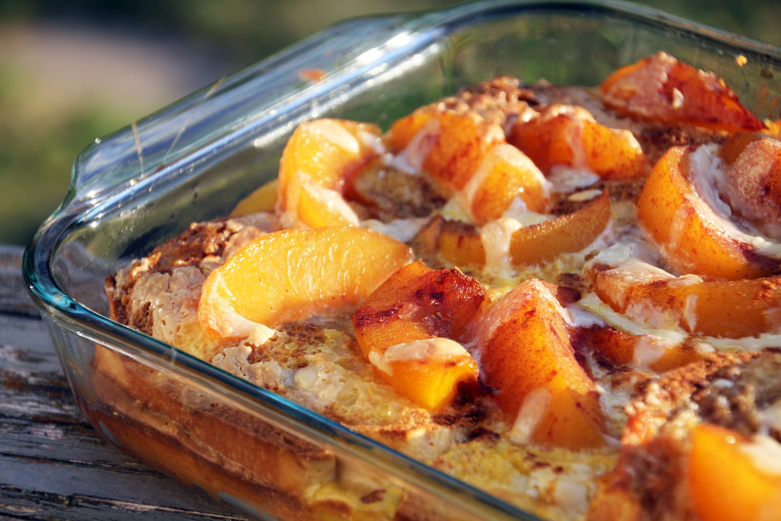 Earning Your Apron: Overnight Peaches-and-Cream French Toast Bake