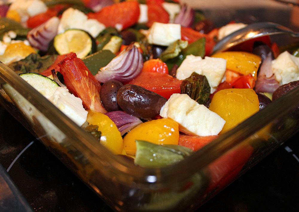 tillaga frysta grönsaker i ugn