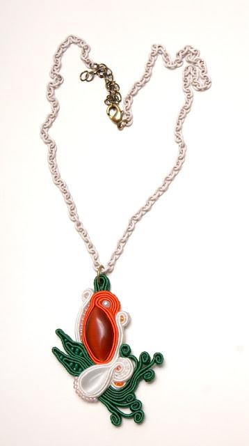 sutasz naszyjnik wisior soutache pendant necklace 9a