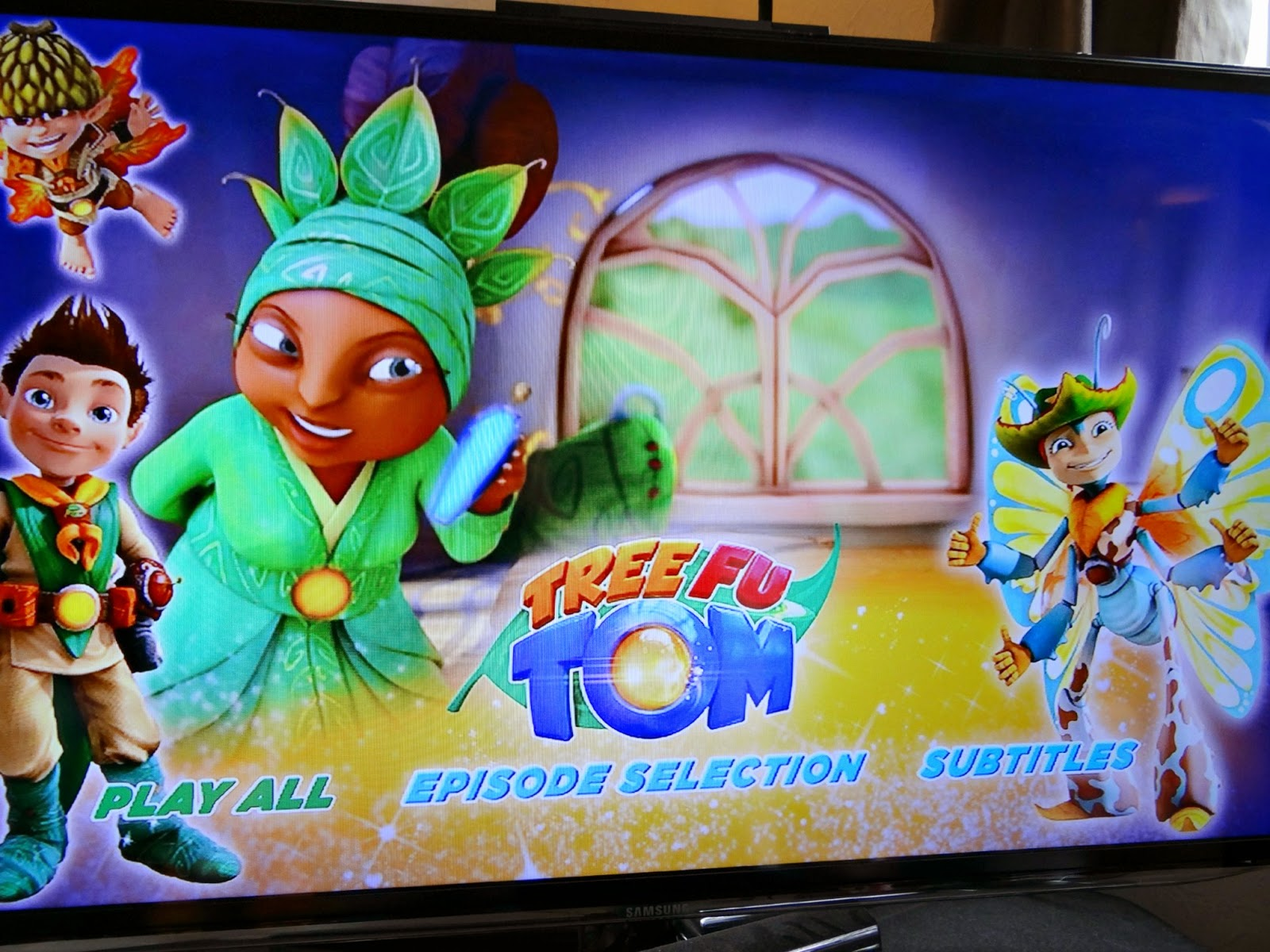 Halloween children DVD, Tree Fu Tom Tom's Big Spell DVD, children program that helps dyspraxia