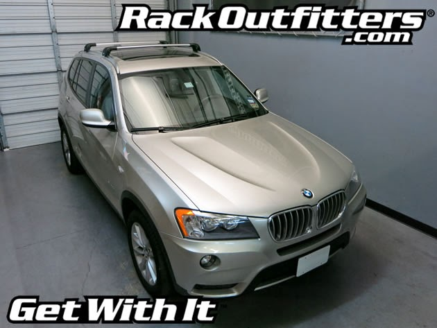 BMW X3 Thule SILVER AeroBlade EDGE Base Roof Rack 11 14