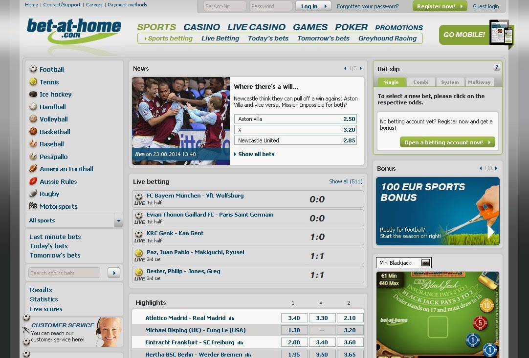 Bet-at-home Sportsbook