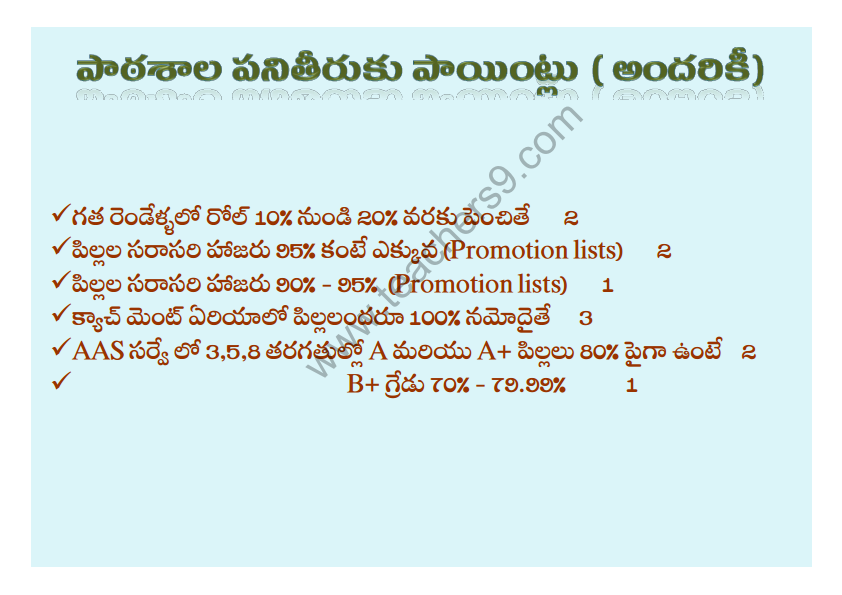 A.P Teachers transfers entitlement points in telugu3