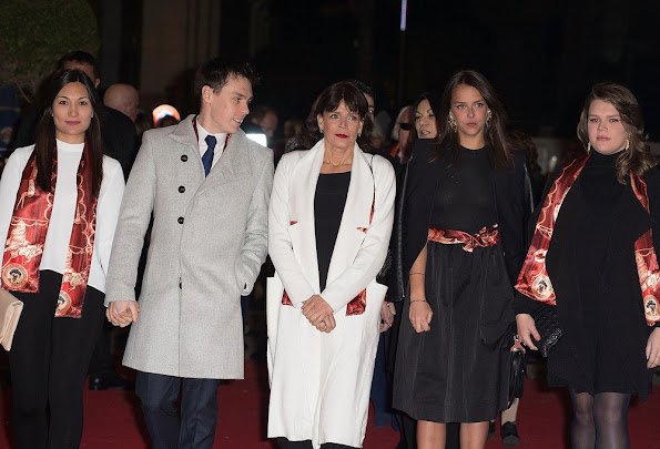 Princess Stephanie of Monaco and her children Pauline Ducruet, Camille Marie Kelly Gottlieb, Louis Ducruet and his girl friend Mary